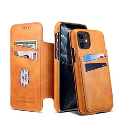 iphone clamshell case UK - New iPhone 11max mobile phone case clamshell leather case multi-function card protection shell wallet