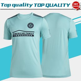 Brand uniforms online shopping - Parley for the Oceans MLS Atlanta United FC Soccer Jerseys MARTINEZ Brand New Light Green Soccer Shirt Men Football Uniform