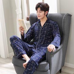 2b03f67d1ac93 4 цвета мужской осень пижамы человек корейский пижамы с длинными рукавами  кардиган пижамы случайные мужчины домашняя одежда