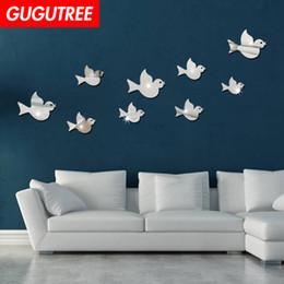 $enCountryForm.capitalKeyWord Australia - Decorate Home 3D bird mirror art wall sticker decoration Decals mural painting Removable Decor Wallpaper G-215