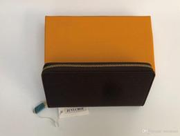$enCountryForm.capitalKeyWord Australia - Wholesale 6 colors fashion single zipper designer men women leather wallet lady ladies long purse with orange box card 60017
