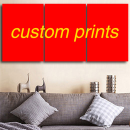 Custom Print Canvas Australia - Custom Canvas Prints Modern Home Decoration Painting Art Panel Frame 3Piece Modular Wall Pictures for Living Room Wholesale