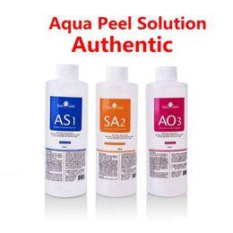 MICRODERMABRASION AS1 SA2 AO3 AQUA SOLUTION SOLUTION 400ML per bottiglia Hydro Siero facciale Siero Pelle normale per la macchina idrafaciale Dermabrasione in Offerta