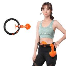 Smart Hula Hoop Auto-Spinning perdre du poids rapidement Hula Hoop avec le cercle de remise en forme de comptage intelligent LCD pour Home Workout ZZA2077 2Pcs en Solde