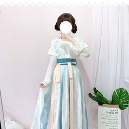 Wholesale woman fairy costume for sale - Group buy Chinese Hanfu For Women Ancient Folk Dance Costume Fairy Dress Oriental Performance Clothes Lady Stage Festival Outfit SL1393