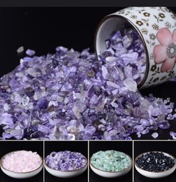 Crystal Chips NZ - 100g Natural Purple Quartz Crystal Stone Rock Chips Lucky Healing Enjoy The Sight Of Crystal Fish Tank Crystal Stone