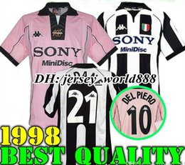 020c74e5f23 top 97 98 Juventus White Retro soccer jersey DEL PIERO ZIDANE 1998 champion  league Juventus Vintage soccer jerseys football shirt INZAGHI