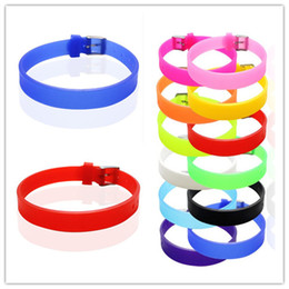 $enCountryForm.capitalKeyWord NZ - Wholesale-8MM Silicone Wristband Bracelets Can Choose Color (30 pieces lot) DIY Accessory Fit Slide Letter Slide Charms