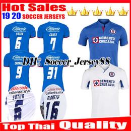 207ef90836f New 2019 2020 Mexico club Liga MX CDSC Cruz Azul Soccer jersey 19 20 home  blue away white jerseys football shirt camisetas de futbol