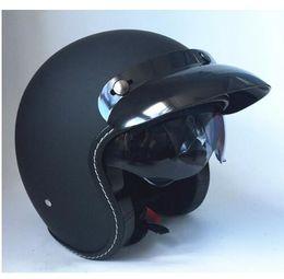 Jet Half Face Helmets Australia - Hot motocross helmets (5 colors) MASEI ruby vintage helmet 3 4 Open Face Scooter Helmet Vintage Harley Jet Motorcycle Helmet R6