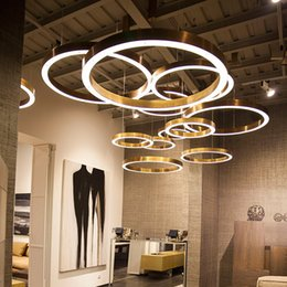 $enCountryForm.capitalKeyWord NZ - Customized LED chandelier light OEM ODM ring drop lamp circle acrylic hanging lamp DIY home commercial office shop decoration