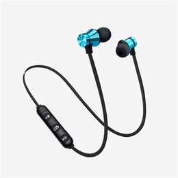 bt iphone UK - XT11 Bluetooth Headphones Magnetic Wireless Running Sport Earphones Headset BT 4.2 with MicFor iPhone Smart phones + Box