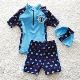 $enCountryForm.capitalKeyWord Australia - New Arrival Kids Lovely Swimsuit Quality Boys Swimwear Teenagers Two-pieces Cute Blue Red Bath Suit Infant Children Beachwear