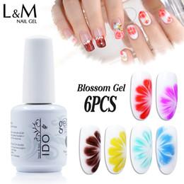 Brand Gel Australia - nails brands 6pcs(1 blossom+5 colors) New Arrival Blossom Flower Painting Draw Polish Varnish 15ml Art UV Gel Nail Brand