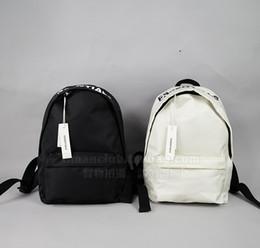 Sport 89 online shopping - Fear Of God FOG Essentials Printed Nylon Backpack FOG Shoulder Bag Kanye West Fashion Couple School Bags Black Sport ZDL