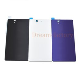 sony xperia battery cover case Australia - 50pcs Back Cover for Sony Xperia Z L36H LT36 C6603 C6602 Rear Glass Housing Cover Back Battery Case Door Chassis Repair Parts