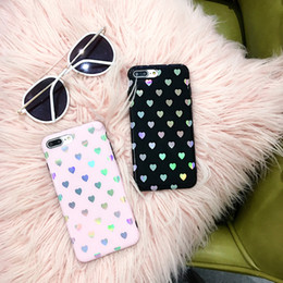 Love Iphone Australia - Cute Fashion Case girls bling love heart back cover for iPhone Xr X xs max anti-shock case for iPhone7 8 6 6S Plus