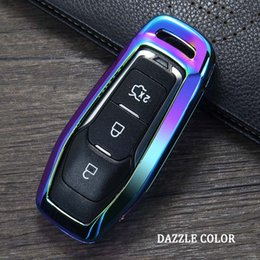 $enCountryForm.capitalKeyWord Australia - Zinc Alloy Car Smart Remote Key Case Automobile Protective Key Skin Shell Cover For Ford Edge Mondeo Mustang For Ford Keys keychain