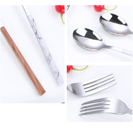 Wholesale Fashion Cutlery Stainless Steel Knife Fork Spoon Dinnerware Tableware Silverware Restaurant Home Hotel Steak Tool Coffee Spoons
