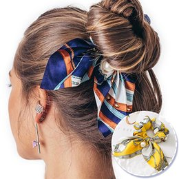 Bowknot wig online shopping - 17colors Bowknot Elastic Hair Bands Elegant Women Pearls Hair Scrunchies Ponytail Holder Tie Rope Hair Accessories