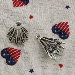 Venta al por mayor de 64 unids encantos bádminton volante 24 * 16 mm colgante, colgante de plata tibetana, para DIY collar pulseras accesorios de la joyería