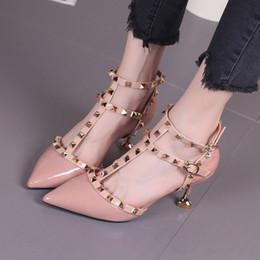 $enCountryForm.capitalKeyWord Australia - 2019 fetish red bottoms high heels women shoes wedding shoes Rivet mary jane pumps escarpins femme ladies lolita gladiator sandals women
