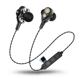 Iphone Stereo Player Australia - Dual Drive Stereo earphone Bluetooth Headset TF card MP3 player 3.5mm With Mic Wired earphone For iPhone huawei Xiaomi with Retail box