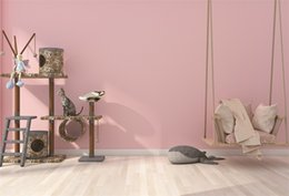 Swing Painting Australia - Laeacco Photo Backgrounds Pink Wall Baby Toys Swing Playroom Wooden Floor Child Interior Photography Backdrops For Photo Studio