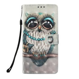 Chinese  Leather flip case for Xiaomi max3 a2 F1 Redmi note7 s2 6 4x 5a note4 Painted Butterfly skull Wind chimes unicorn with Credit card slot cases manufacturers