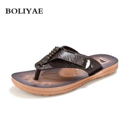 new shoes pattern for men 2019 - New Fashion Leather Crocodile pattern flip flops Men Beach outdoor Breathable For Summer Men Causal Shoes Sandals Male S