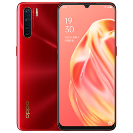 oppo screen NZ - Original Oppo A91 4G LTE Cell Phone 8GB RAM 128GB ROM Helio P70 Octa Core 6.4 inches Full Screen 48.0MP Fingerprint ID Smart Mobile Phone