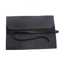 Wholesale High Quality Makeup Brushes Bag Slots Pouch Case Brush Protector Cosmetics Case slots PU Leather Rolling Bag