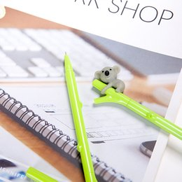 Koala Plastic Australia - Plant Gel Pens Black Ink Koala Neutral Pen Creative Cute Gel Pens Students Cartoon Writing Office School Supply 0.38mm Gift Stationery