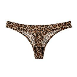 2b696605bad79 Plus Size Leopard Sexy Women'S G-Strings Thongs Low Waist Sexy T Panties  Flower Briefs LadiesTanga Underwear