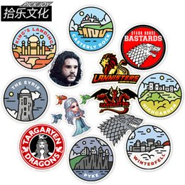 $enCountryForm.capitalKeyWord Australia - 50 pcs bag Car Stickers Game Of Thrones Power For Laptop Skateboard Pad Bicycle Motorcycle PS4 Phone Luggage Decal Pvc guitar Stickers