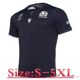 Wholesale 19 SCOTLAND HOME RUGBY JERSEY size S XL Print name and number Top quality