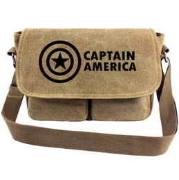 $enCountryForm.capitalKeyWord NZ - Captain america messenger bag Super hero sling case Steve Rogers satchels Sport canvas urick Single shoulder pack Outdoor haversack