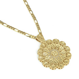 necklace india UK - Dubai Ethiopian India African Arab Pendant Necklace Gold Color Wedding Flower Party Jewelry Gift