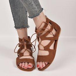 63eca34711 shoes woman size 43 sandals 2019 - Woman Sandals 2019 Fashion Cross-strap  Summer Shoes