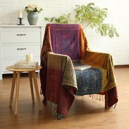rooms tapestries 2019 - Geometry Throw Blanket Sofa Cobertor Bohemia Hanging Tapestry for Sofa Bed Plane Travel Ethnic Turkish Blanket Living Ro