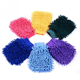 Wholesale Double Sided Car Motorcycle Wash Gloves Vehicle Auto Cleaning Mitt Glove equipment Car detailing Cloths Home Duster