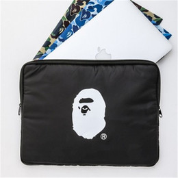 Wholesale Ape Print Laptop Bag Special Magazine Appendix Popular Logo Black Storage Bag Add Extra Layer Shockproof Super Thick File Bag