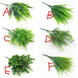 restaurant pots Australia - Artificial Plants Fern floral Persian silk potted Green Grass Home Decoration Simulation Plant for Home Garden Decoration