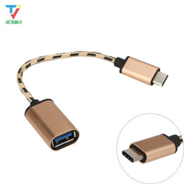 Chinese Macbook Australia - 100pcs lot USB-C 3.1 Type C Male To USB 2.0 Female Nylon Braided Adapter Sync Data Charger OTG Cable Converter For Phone Laptop For Macbook