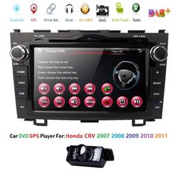 Honda Crv Gps Dvd Australia - 2 DIN Size Car Stereo DVD GPS NAV Radio for Honda CRV CR-V CR V 2007 2008 2009 2010 2011 GPS RDS USB SD SWC BT CAM IN Subwoofer