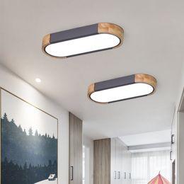 scandinavian lighting 2019 - Scandinavian Long Ceiling Lighting Modern Minimalist Entracne Aisle Lamp Creative Solid Wood Round Corner Designer Ceili