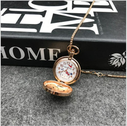 bc3bc7372 New Hello Kitty Cartoon Children Pocket Watch Fashion delicate Pendants  Girl necklace Pocket Watch Quartz keychain pocket watch