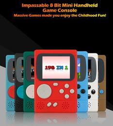 Camera Fedex Australia - New Video Game Console Mini Pocket Handheld Game Player 198 Classic Games Best Gift for Child Nostalgic Player DHL FEDEX