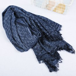Cotton Winter Scarves Australia - Fashion Winter Scarf Warm Soft Scarves Unisex Retro Warm Tassel Women Men Wrap Cotton Foulard 200*70CM