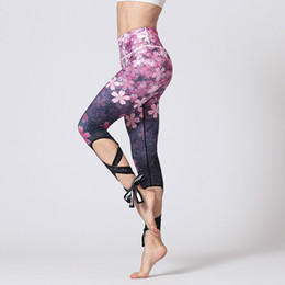 Sport apparel women online shopping - Women Printing Bandage Fitness Pants Quick drying Breathable Yoga Leggings Gym Running Stretch Sports Apparel Styles Clothes IIA242